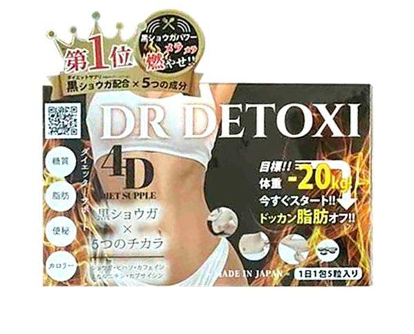 Viên Uống Giảm Cân Thải Độc Dr Detoxi 4D Nhật Bản