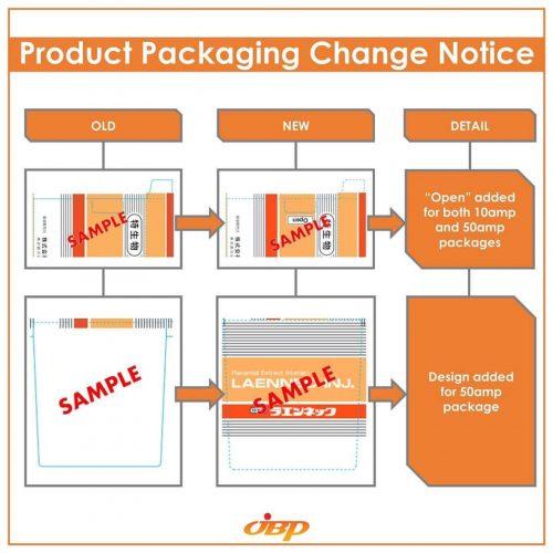 Thông báo của Tập đoàn JBP về việc thay đổi mẫu mã bao bì Laennec Inj